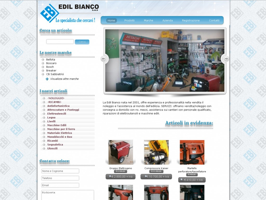 sito web edilbianco